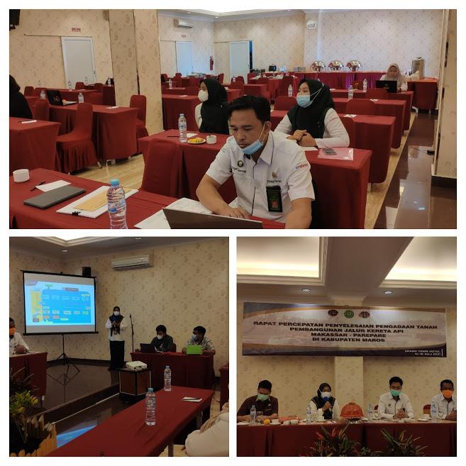 Rapat Percepatan Penyelesaian Pengadaan Tanah Pembangunan Jalur Kereta Api Makassar - Parepare.