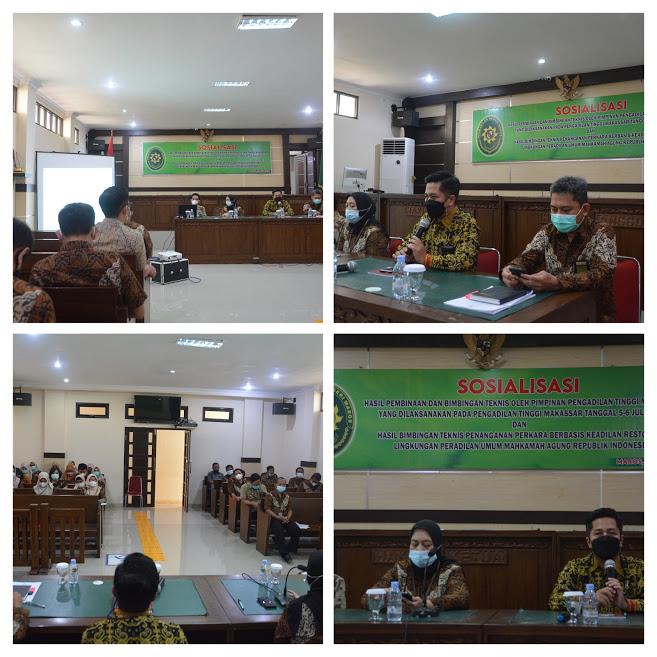 Sosialisasi Hasil Pembinaan dan Bimbingan Teknis Oleh Pimpinan Pengadilan Tinggi Makassar