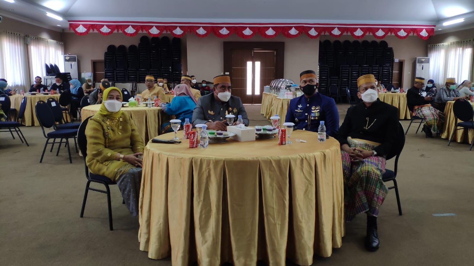 Ketua Pengadilan Negeri Maros Ibu Andi Nurmawati, S.H.,M.H menghadiri acara Peringatan Hari Jadi Provinsi Sulawesi Selatan Ke-352 secara virtual