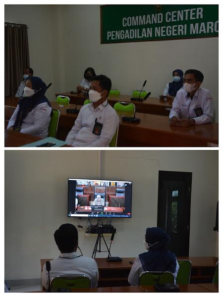 PN Maros Kelas 1B Hadiri Seminar Virtual Meeting Sesi - II dengan Agenda Diskusi Virtual : BERSAMA, DISIPLIN, LAWAN COVID-19