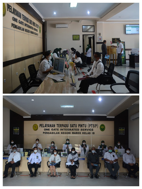 Kunjungan Pengadilan Tinggi Makassar ke Pengadilan Negeri Maros untuk persiapan penilaian PTSP