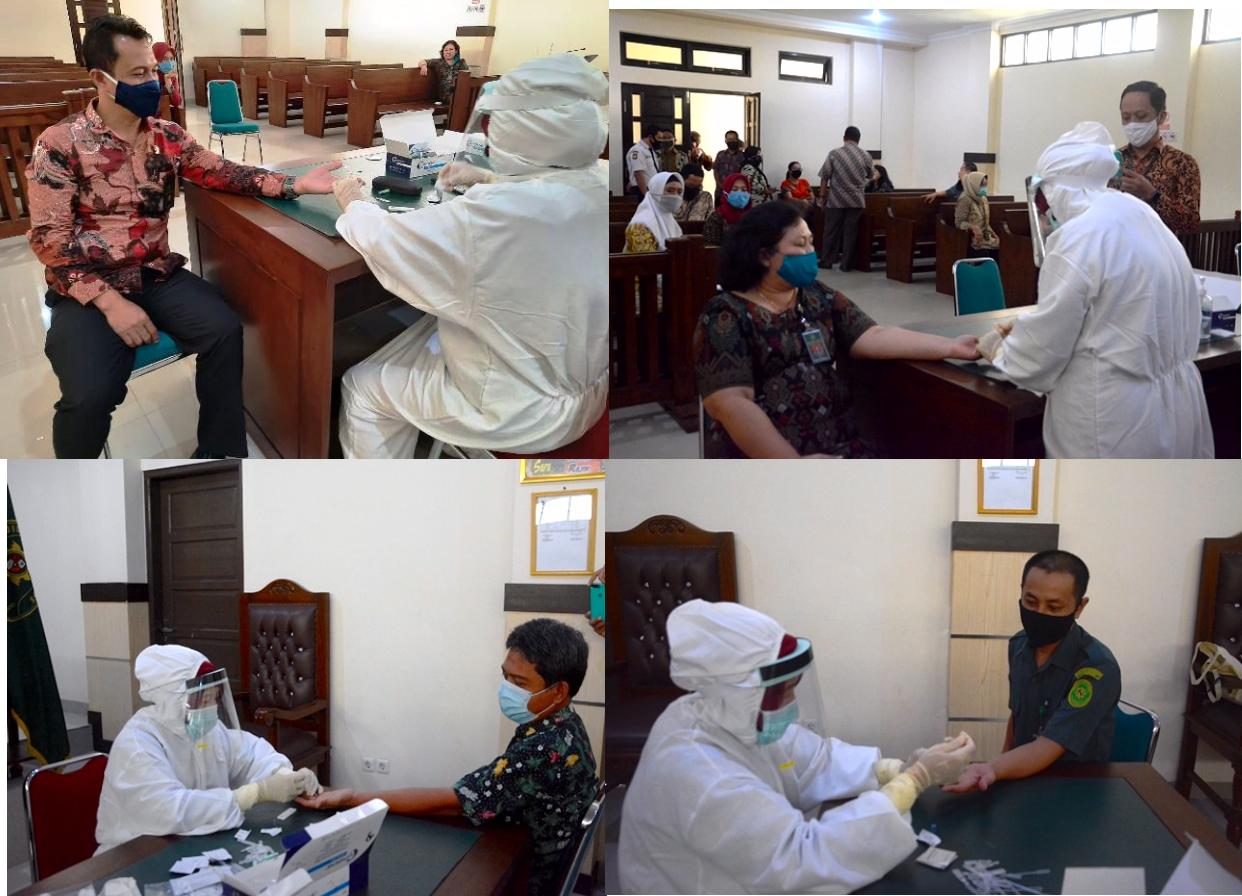 Rapid Test Pengadilan Negeri Maros Gelombang I oleh Dinas Kesehatan Kabupaten Maros