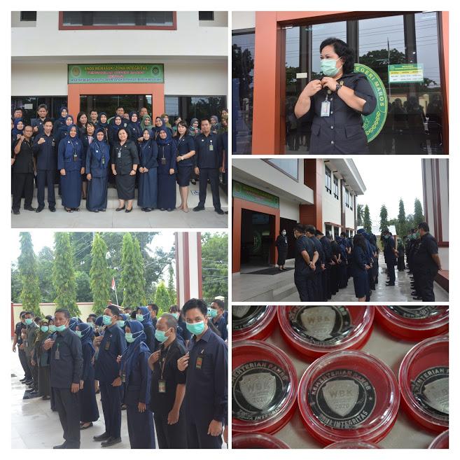 Apel Pagi di rangkaikan dengan Penyematan PIN WBK Pengadilan Negeri Maros Kelas IB