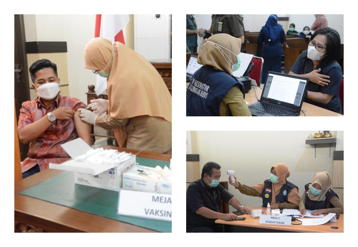 Pelaksanaan Vaksinasi Tahap Kedua di Pengadilan Negeri Maros